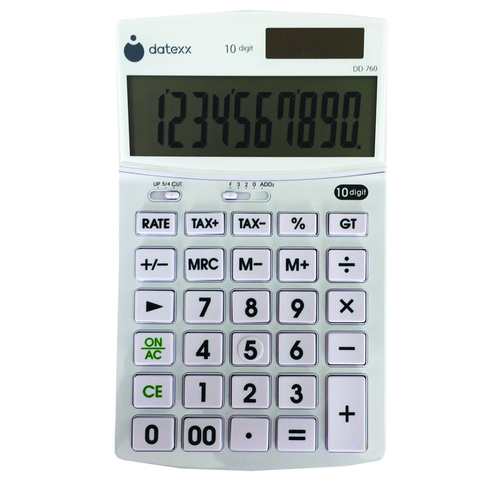 Hybrid Power 10 Digit Slim Mini Desktop Calculator