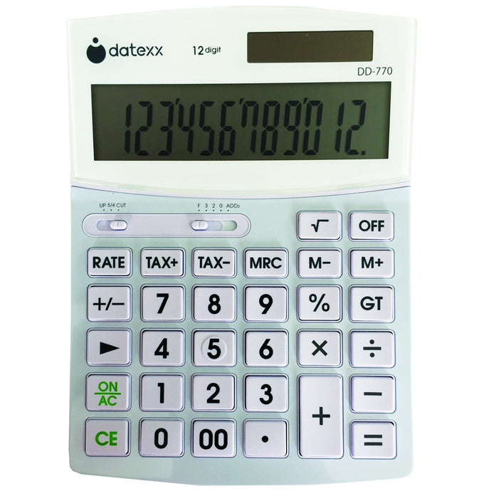 Hybrid Power 12 Digit  Large Desktop Calculator