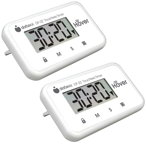 Hover Touchless Timer 2 Pack- White