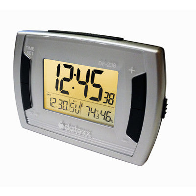 Desk Alarm Clock/Calendar w/ temperature/ Humidity. Bright Back Light
