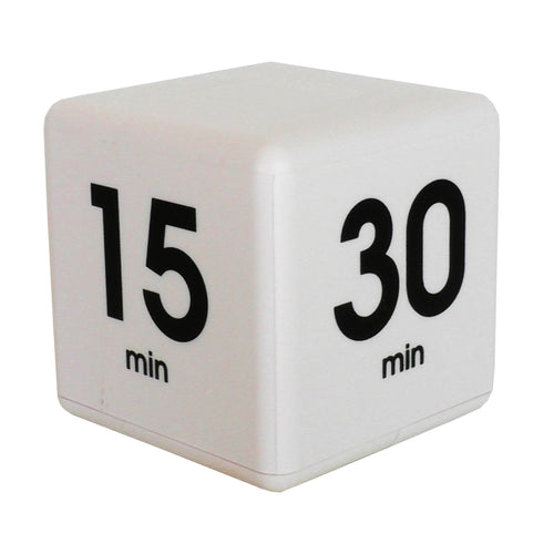 Time Cube 5-15-30-60 Minute Preset Timer- White