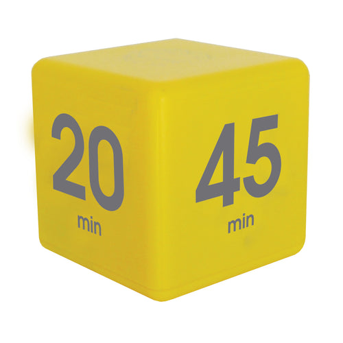 TimeCube® 5-10-20-45 Minute Preset Timer- Yellow