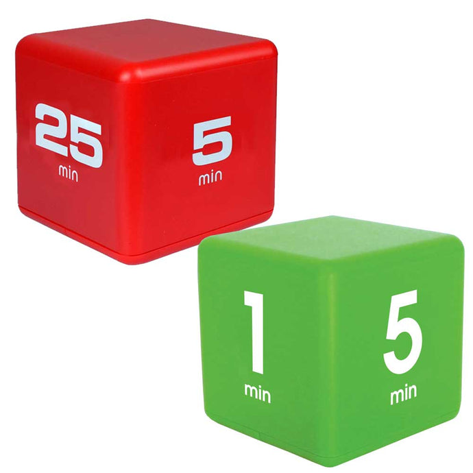 Productivity TimeCube® Combo Pack: 5-10-20-25 Minutes and 1-5-10-15 Minutes