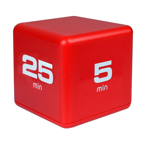 Productivity Time Cube: 5-10-20-25 Minute Preset Timer - Red