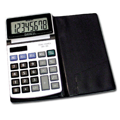 8 digit Metal faced tilt head wallet calculator