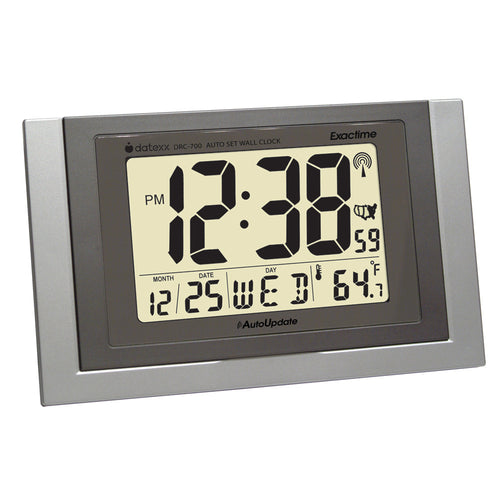 Radio Control Wall Clock with Month, Day, Date Temperature