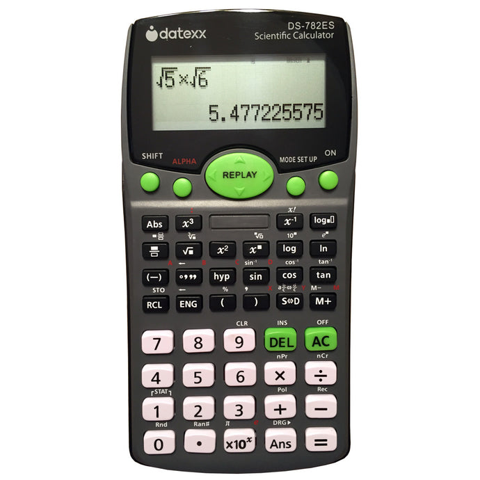 2-Line Scientific Calculator with Natural Textbook Display