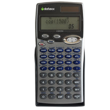 Solar powered 455-Function, 2 Line, Fraction, Equation  Scientific Calculator