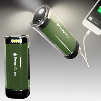 Guaranteed PowerNow Quest -2400mAh Power Bank and Lantern/Flashlight (Green)
