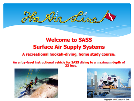 Hookah Training - Surface Supplied Diving | The Air Line by
