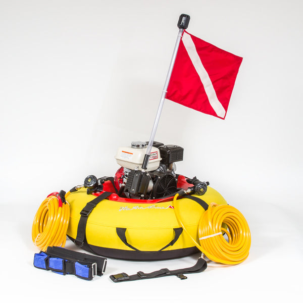 Floating dive compressor dive gear package the air line by j sink - Floating dive compressor ...