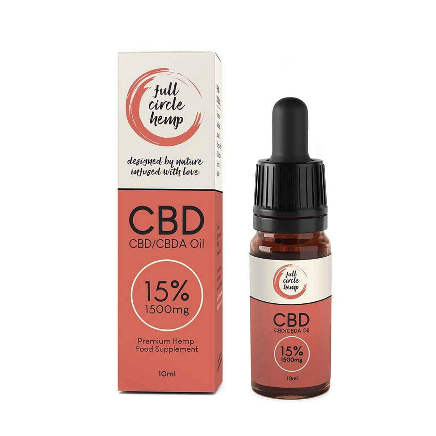 Full Spectrum CBD Oil 15% 1500mg 10ml. High Strength CBD Oil Drops from Full Circle Hemp Ireland
