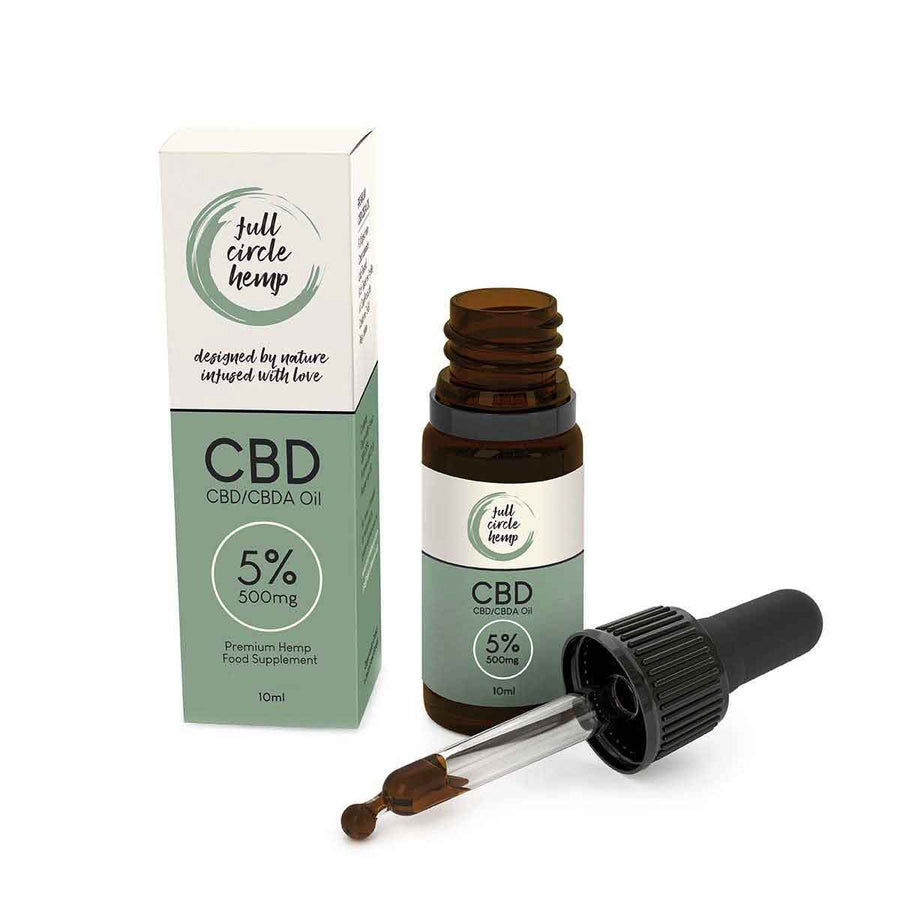 5% 500mg Full Spectrum CBD Oil with Dropper from Full Circle Hemp Ireland