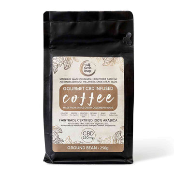 Gourmet CBD Infused Ground Columbian Coffee with 250mg CBD in a 250 gram Packet from Full Circle Hemp Ireland