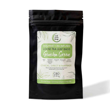 Gourmet CBD Infused Sencha Green Tea from Full Circle Hemp Ireland