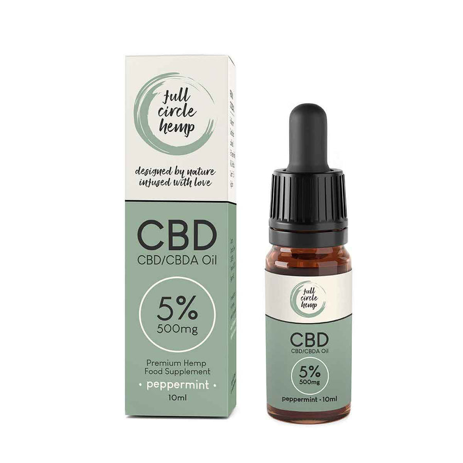 Full Spectrum 5% 500mg CBD Oil in Peppermint Flavour from Full Circle Hemp Ireland