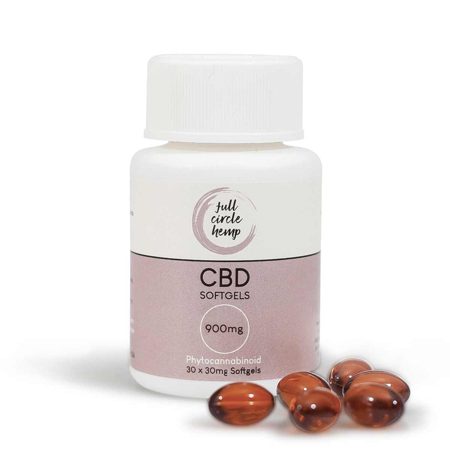 CBD Capsules | Softgels 30mg - Full Circle Hemp Ireland