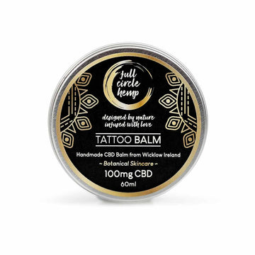 CBD Tattoo Balm | Healing Balm 100mg CBD 60ml tin from Full Circle Hemp Ireland