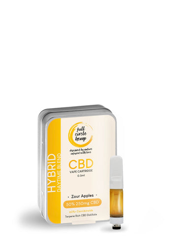 CBD Vape Ireland - Cartridge - Zour Apples - 0.5ml - 50% 250mg- Full Circle Hemp Ireland