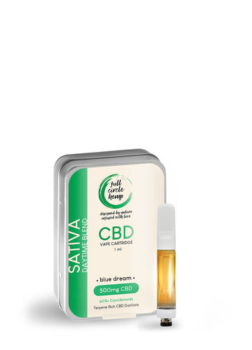 CBD Vape Ireland - Cartridge - Blue Dream - 1ml - 50% 500mg- Full Circle Hemp Ireland