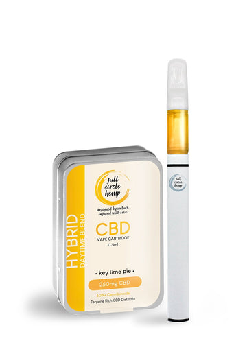 CBD Vape Pen Kit - Key Lime Pie - Hybrid - 0.5ml 50% 250mg from Full Circle Hemp Ireland
