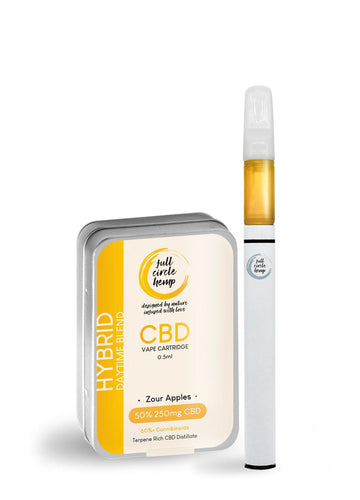 CBD Vape Kit | Zour Apples | 0.5ml 50% 250mg from Full Circle Hemp Ireland