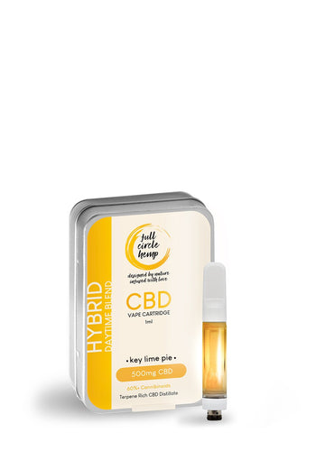 CBD Vape Ireland - Cartridge - Key Lime Pie Hybrid - 1ml - 50% 500mg- Full Circle Hemp Ireland