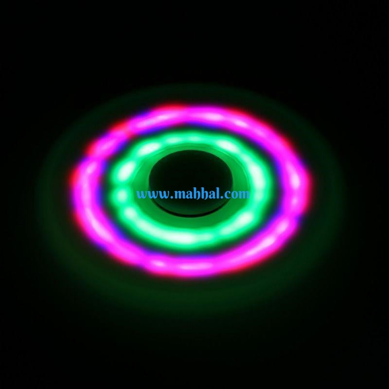 "LED Fidget Tri- Spinner ""Black"""