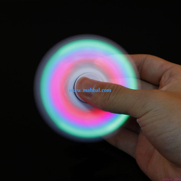 "LED Fidget Tri- Spinner ""Green"""