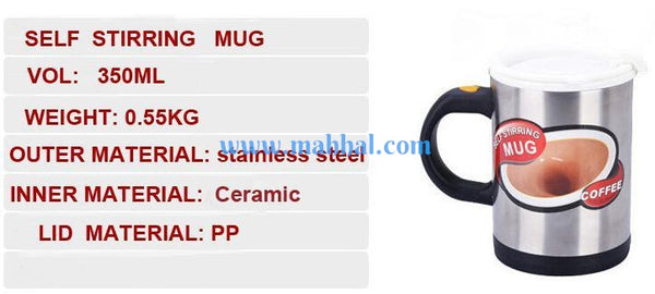 Ceramic Self Stirring Cup Mug