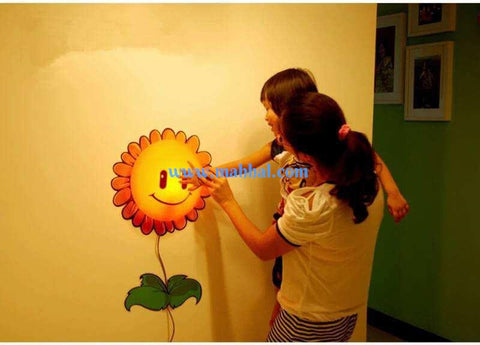 Sunflower Night Light Wall Sticker Lamp