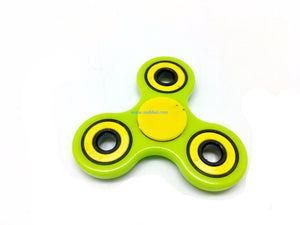 "Tri-Spinner Fidget ""Green & Yellow"""