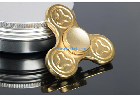 "Plum Flower Tri Spinner ""Gold"""