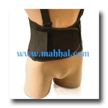 Lumbar Waist Support W/ Suspenders, Back Brace, Weight Lifting Belt, Work Safety