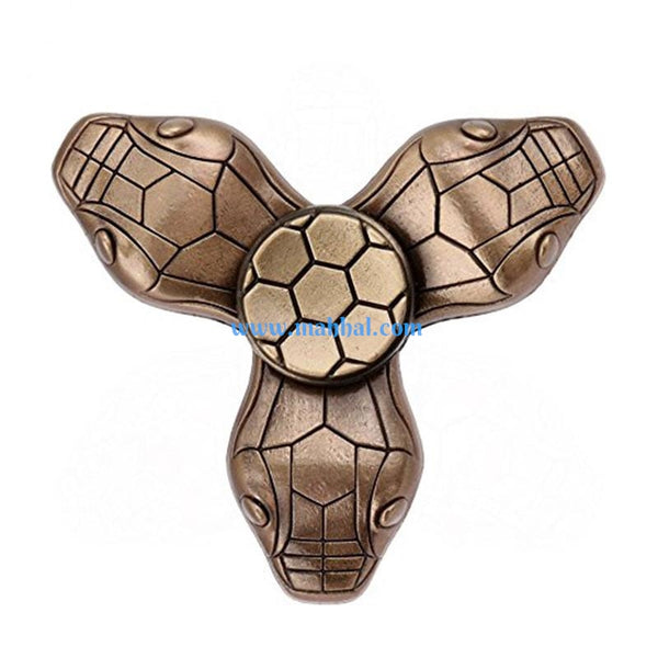 Snake Totem Design Tri-Spinner Metallic Finger Spinner