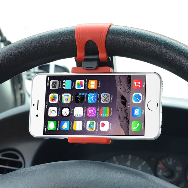 Car Steering Wheel Phone Holder Mount