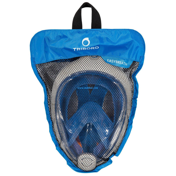 TRIBORD EASYBREATH SURFACE SNORKELING MASK - BLUE