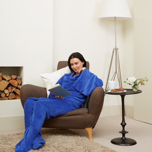 Snuggie True Fleece Blanket with Sleeves, Blue