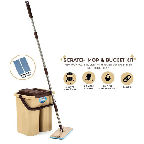 Scratch Mop & Bucket Kit