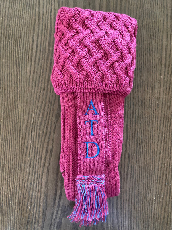 Lady Huxley - Dusky Pink Socks with Personalised Garters