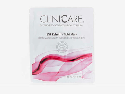 2 x CLINICCARE EGF REFRESH/TIGHT MASK
