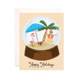 Tropical Christmas Greeting Card
