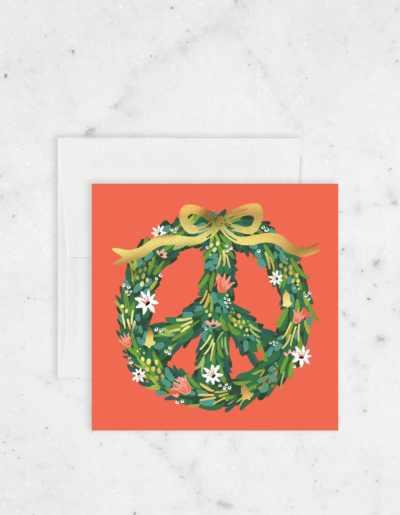 Peace Wreath Card - Box of 8