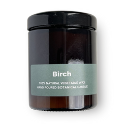 Birch - Pippettes 20 hour Soy Hand-poured Candles in Amber Glass Jar