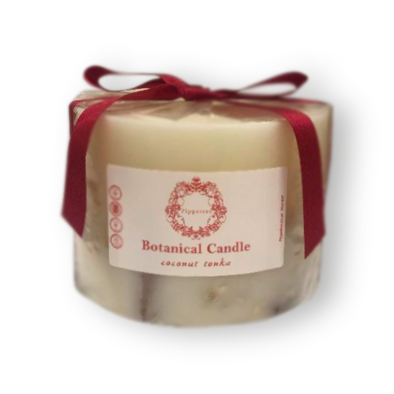 Botanical candles by Pippettes 150mm - Tonka Bean and Coconut