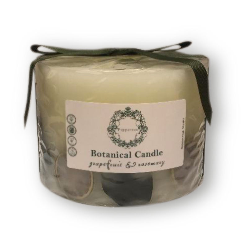 Botanical candles by Pippettes 150mm - Grapefruit & Rosemary