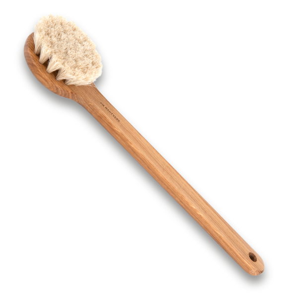 Dry / Bath brush Lovisa with handle Oiltreated oak, Horsehair