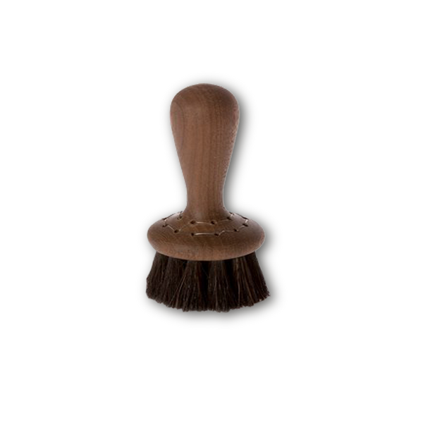 walnut handled face brush