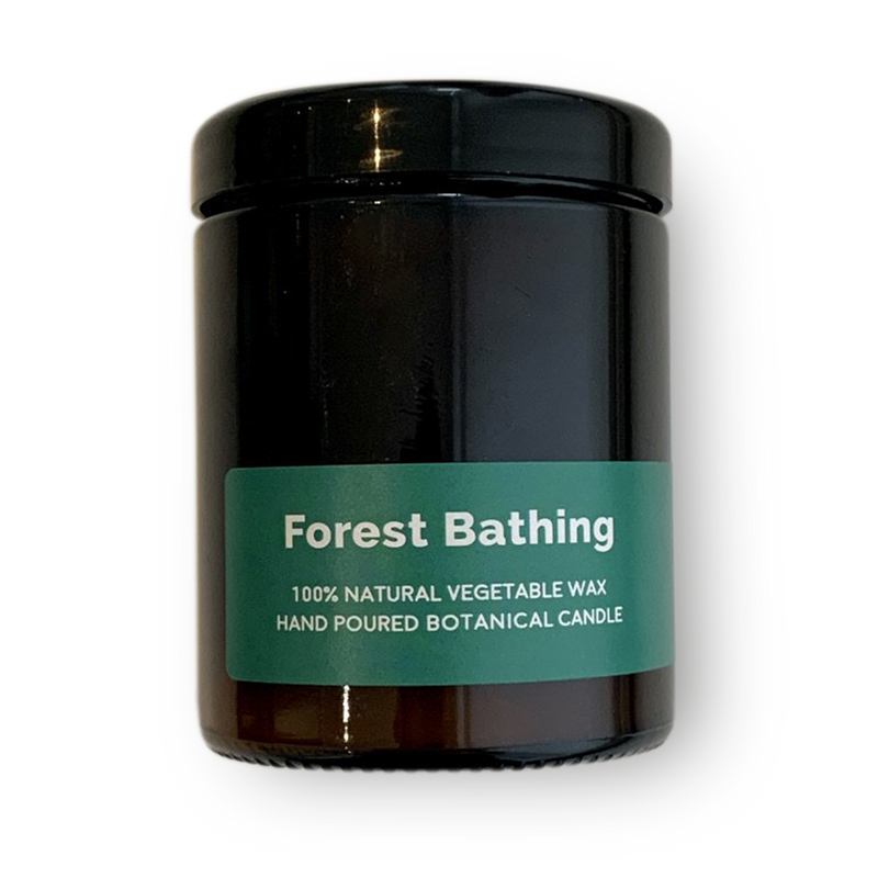 Forest Bathing - Pippettes 20 hour Soy Hand-poured Candles in Amber Glass Jar