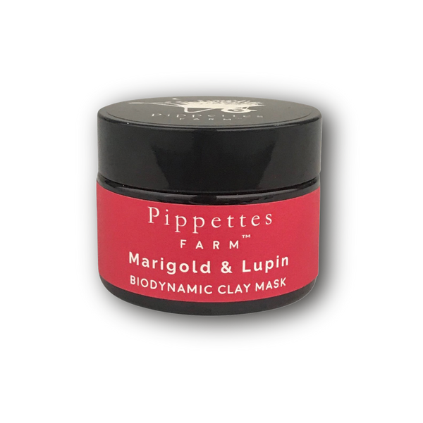 biodynamic marigold and lupin Kaolin clay mask